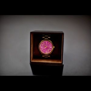 Michael Kors Gold watch with pink face